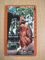 Tamura Phonecard,Elang Jawa Eagle, Used With One Hole Only - Indonesien