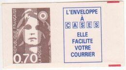 Marianne BRIAT  70c Brun Lignes Ondulées (Yvert 2873) Rare Variété Accidentelle Au Niveau De La Tempe! SUP - 1989-96 Marianne Du Bicentenaire