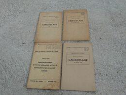 TM FM Lot 4 Manuel Technique Americain US Sur Le Camouflage Au Combat Ww2 Daté 1943 Et 1944 - 1939-45