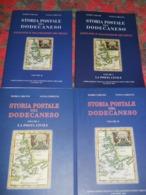 CARLONI, MARIO CERCENA', VANNA STORIA POSTALE DEL DODECANESO - 2 VOL. + FASCICOLI VALUTAZIONE - Stamps