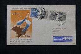 BRÉSIL - Enveloppe Commémorative Du 1er Vol  Sao Paulo / Tokyo En 1954  - L 70427 - Lettres & Documents