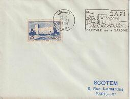 Maroc 1956 Lettre Pour La France Oblit. Concordante Safi Capitale De La Sardine - Covers & Documents