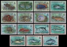 Ascension 1991 - Mi-Nr. 558-572 ** - MNH - Fische / Fish - Ascension