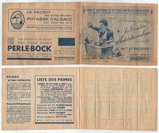 TUBERCULOSE - ANTITUBERCULEUX - ALSACE - MATHIS / 1938 CARNET COMPLET AVEC PUBLICITES LOCALES ** (ref 6178) - Erinnophilie