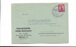 Zeitdokument - Parteibrief Aus Weissenburg Nach München 1938 - Cartas
