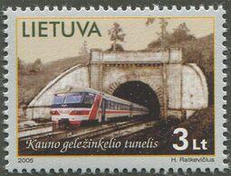 LITAUEN / MiNr. 875 / Technische Denkmäler (V): Eisenbahntunnel, Kaunas / Postfrisch / ** / MNH - Trenes