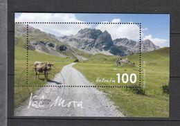 Schweiz Gestempelt Block  Schweizer Landschaft Val Mora Neuausgabe 14.11.2019 - Bloques & Hojas