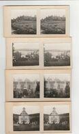 8 PHOTOS COLLÉES SUR CARTON (5.5x5 Cm) ÉLAN (08) PERSONNES SUR TOMBE CIMETIÈRE,ABBAYE,ÉGLISE CIMETIÈRE,TROUPEAU MAI 1928 - Photographs