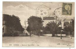 TUNISIE 1C AU RECTO TUNIS 1926 CARTE FM  + C. HEX PERLE CUIRASSE BRETAGNE - Storia Postale