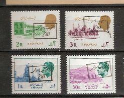 IRAN  4 Surchargés. Nsch. - Irán