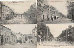 4 CPA:BAR LE DUC (55) RUE LAPIQUE,BOULEVARD DE LA ROCHELLE 1841,VISITE M.PRÉSIDENT RÉPUBLIQUE,BOULEVARD DE LA ROCHELLE - Bar Le Duc