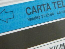 (LT1259) VARIETA' ERRORE - DECALCO FILIGRANA SIP - COMPAGNA - BORSELLINO  USATA C&C N° 1239 N° 079075605 - Errori & Varietà