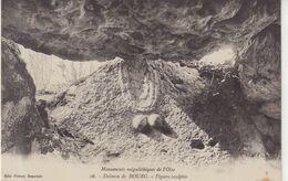 Monuments Mégalithiques De L'Oise : Dolmen De Bourg  . Figure Sculptée . - Dolmen & Menhire