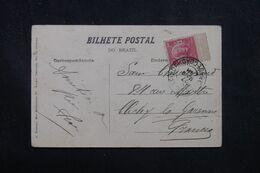 BRÉSIL - Affranchisseent De Rio De Janeiro Sur Carte Postale Pour La France - L 70452 - Briefe U. Dokumente