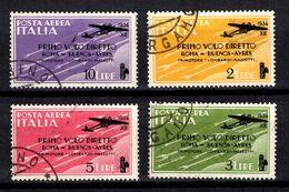 Italie Poste Aérienne YT N° 52/55 Oblitérés. B/TB. A Saisir! - Poste Aérienne