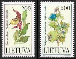 LITUANIE 1992 -  YT 430 Et 431 -  Fleurs -  NEUF S** - Cote 4.50e - Lituanie