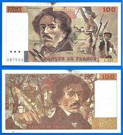 France 100 Francs 1993 Serie A Delacroix Frcs Frs Frc Que Prix + Port Peintre Paypal Bitcoin - 1992-2000 Ultima Gama