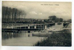 89 BASSOU Péniche Passage De L'Ecluse Battellerie 1933 écrite Timb      /D06-2017 - Sonstige Gemeinden