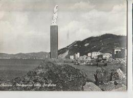CHIAVARI MADONNINA DELLA SCOGLIERA PANORAMA  -viaggiata-SI 1960..-mt.6900 - Genova
