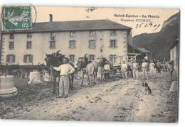 CPA 38 Saint St Egreve La Monta Minoterie Bourne Un Attelage - Sonstige Gemeinden