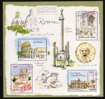 """FR Bloc YT 53 BF """" Capitales Européennes, Rome """" 2002 Neuf** - Mint/Hinged"""