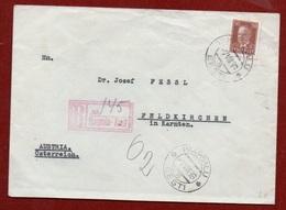 ESTONIA - REGISTERED  FROM HAAPSALU  * EESTI * TO  FELDKIRCHEN AUSTRIA   THE  7/8/1936 - 1949 - ... People's Republic