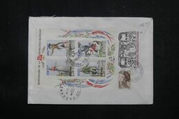 FRANCE - Enveloppe En Recommandé De Paris En 1989 Pour Péronne, Affranchissement Au Dos Dont Bloc Révolution - L 70491 - 1961-....