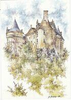AQUARELLE:  BEAUMONT-du-PERIGORD : Château De BANNES   De R.Prince (neuve) - Altri