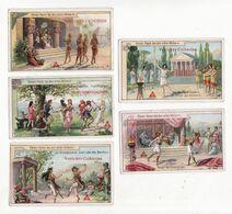 Chromo  CHICOREE VOELCKER COUMES    Lot De 5    Danses Anciennes, Egypte, Rome, Sparte Etc     10 X 6 Cm - Kaufmanns- Und Zigarettenbilder