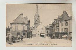 CPA HARFLEUR (Seine Maritime) - Place Victor Hugo Et Rue Des Cent Quatre - Harfleur