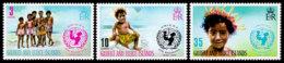 Gilbert And Ellice Islands, 1971, UNICEF, United Nations, MNH, Michel 188-190 - Gilbert- En Ellice-eilanden (...-1979)