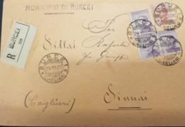 Burcei. 1925. Annullo Guller BURCEI *CAGLIARI* Su Lettera R Affrancata Michetti. - Marcophilie
