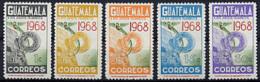 Guatemala, 1968, Olympic Summer Games Mexico, MNH, Michel 844-848A - Guatemala