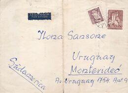INVITATION DE PARTICIPATION FUNERAIRE. HONGRIE 1962, CIRCULEE BUDAPEST A MONTEVIDEO, URUGUAY. PAR AVION - LILHU - Hungary