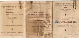 D03  BUXIÈRES LES MINES DOCUMENT PUBLICITAIRE 3 VOLETS ENTREPRISE DE BOIS LÉON CHEMELLE - Frankreich