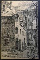 CHOLET, Maine Et Loire,  Rue Notre Dame,  Gravure De LAURENTIN , Timbre Type Blanc 1 C IMPRIMES , 1919, SUPERBE - Cholet
