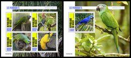 NIGER 2020 - Parrots, M/S + S/S. Official Issue [NIG200216] - Parrots