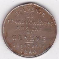 Suisse Médaille Souvenir Du Grand Concours Musical De Genève Aout 1890 - Other