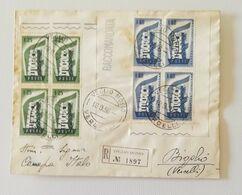 Busta Di Lettera Raccomandata Da Bioglio Per Veglio Mosso 1958 - 1946-60: Marcofilia