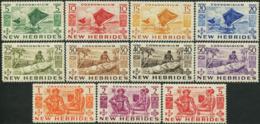 NEW HEBRIDES 1953 Indigenous Images Definitives Sailing Ships MNH - Schiffe