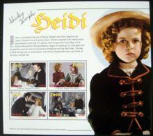 Grenada, 2000, Shirley Temple, Actress, Heidi, Film, MNH Sheet, Michel 4421-4424 - Grenada (1974-...)