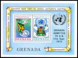 Grenada, 1975, Admission To The United Nations, MNH, Michel Block 41 - Grenada (1974-...)