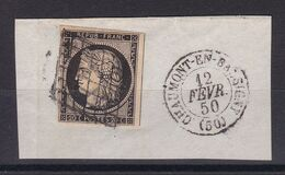 D194 / LOT CERES N° 3 OBL SUR FRAGMENT COTE 65€ - 1849-1850 Cérès