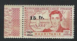 FRANCE Ex-Colonies Mauritanie 1944: Le Y&T 137 Neuf** BDF - Ongebruikt
