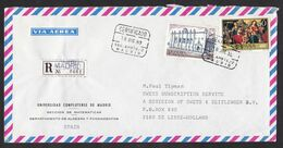 Spain: Registered Airmail Cover To Netherlands, 1980, 2 Stamps, Painting, Art, Improvised R-label (roughly Opened) - 1931-Hoy: 2ª República - ... Juan Carlos I