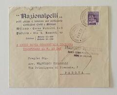 """Busta Di Lettera """"Nazionalpelli"""" Milano Per Padova 30/03/1945 - Storia Postale"""