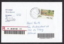 Spain: Registered Cover To Netherlands, 2004, ATM Machine Label, Dutch Label Not At Home, Tilburg (traces Of Use) - 1931-Aujourd'hui: II. République - ....Juan Carlos I