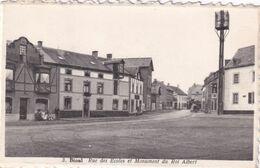 Bioul - Rue Des Ecoles Et Monument Du Roi Albert - Edit. Maurice Libois N° 3 - Anhée