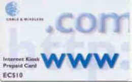 GRENADA : GRE01 EC$10 .COM Www Internet Kiosk Prepaid Card USED - Grenada