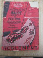 Oostende Ford Rally 1937 Reglement Compleet Met Inschrijvingsbewijs 49 Blz Rare Met Hotels Mist Hoekje Rechts - Books, Magazines, Comics